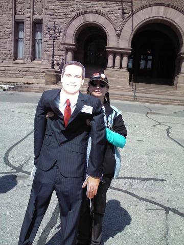 """Premier McGuinty"" Visits Coalition Meeting"
